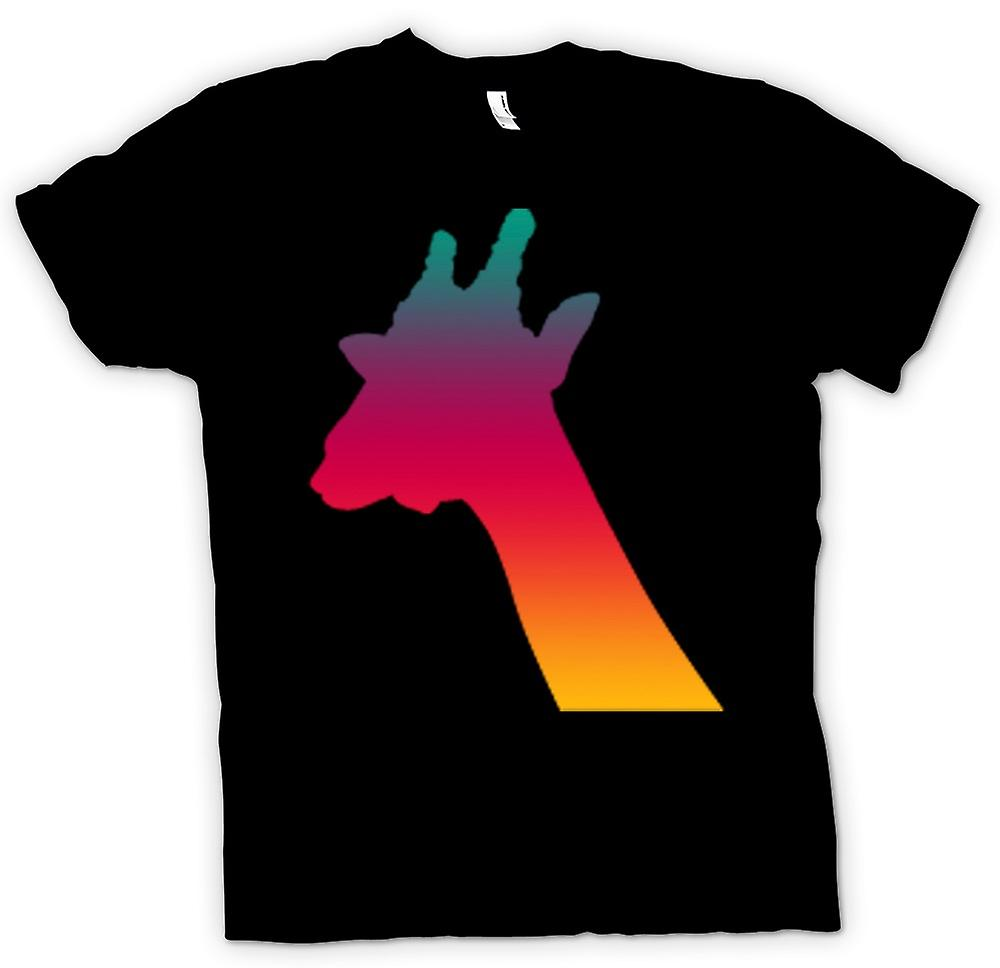 Womens T-shirt - Rainbow Giraffe Psychedelic Design