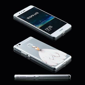 Silikoncase scene 27 0,3 mm ultra tynde tilfældet for Huawei P9 Lite lomme dække