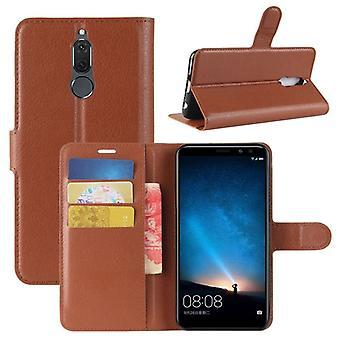 Prima de cartera bolsillo marrón para Huawei mate 10 bolsa de funda protección Lite manga nuevo