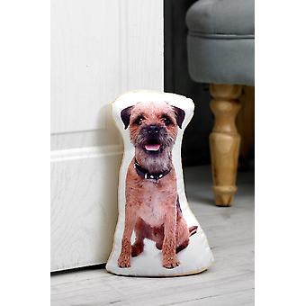 Adorable border terrier doorstop