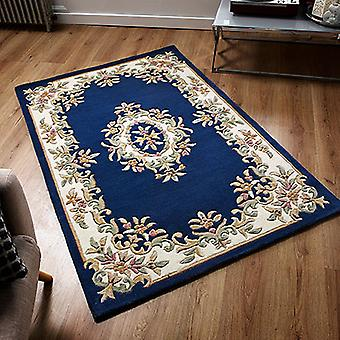Royal Indian Blue  Half Moon Rugs Traditional Rugs