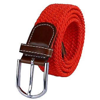 Bassin and Brown Plain Elasticated Woven Belt - Red