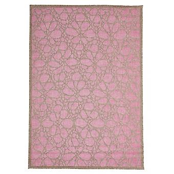 In - and outdoor carpet balcony / living room Fiore pink natural 160 x 230 cm