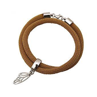 -Bracelet - bracelet - 925 Silver - Butterfly - Brown