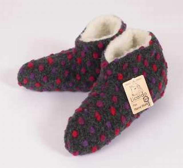 Bettscarpe Wolle Noppen anthrazit 42 43 | Abbiamo ricevuto lodi dai nostri clienti.  | Maschio/Ragazze Scarpa