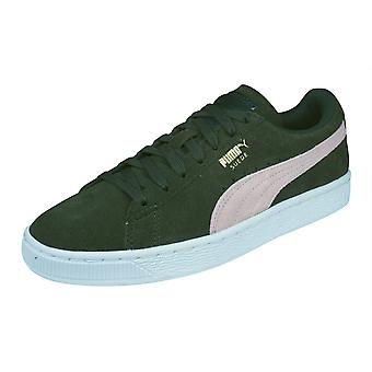 Puma Suede Classic Womens Trainers / Shoes - Dark Green