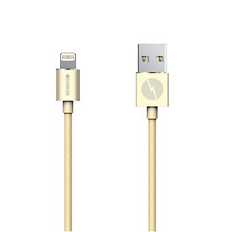 Champion Lightning kabel 2m Gold. iPhone, iPad