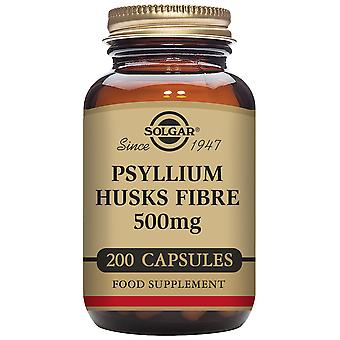 Solgar Psyllium Husks Fiber 500 mg 200 Vegetable Capsules