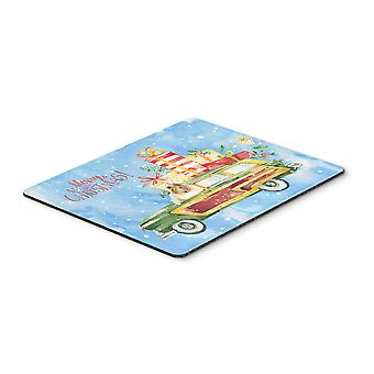 Merry Christmas Collie Mouse Pad, Hot Pad or Trivet