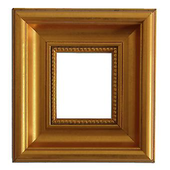 7 x 8, 5 cm, foto rammen i gull