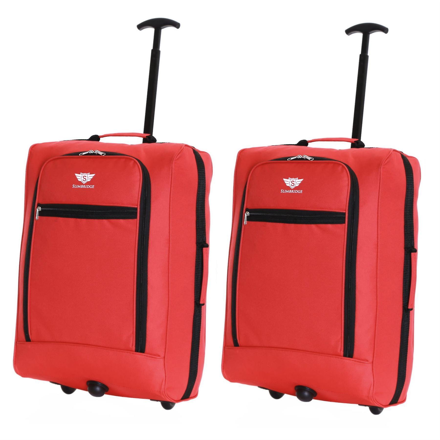 Slimbridge Montecorto Set of 2 Cabin Luggage Bags, Red (SET OF 2)