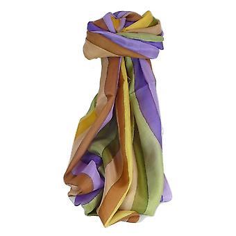 Mulberry klassisk lang silkeskjerf Ankola Rainbow palett av Pashmina & Silk