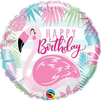 Foil balloon of happy birthday Flamingo approximately 45 cm