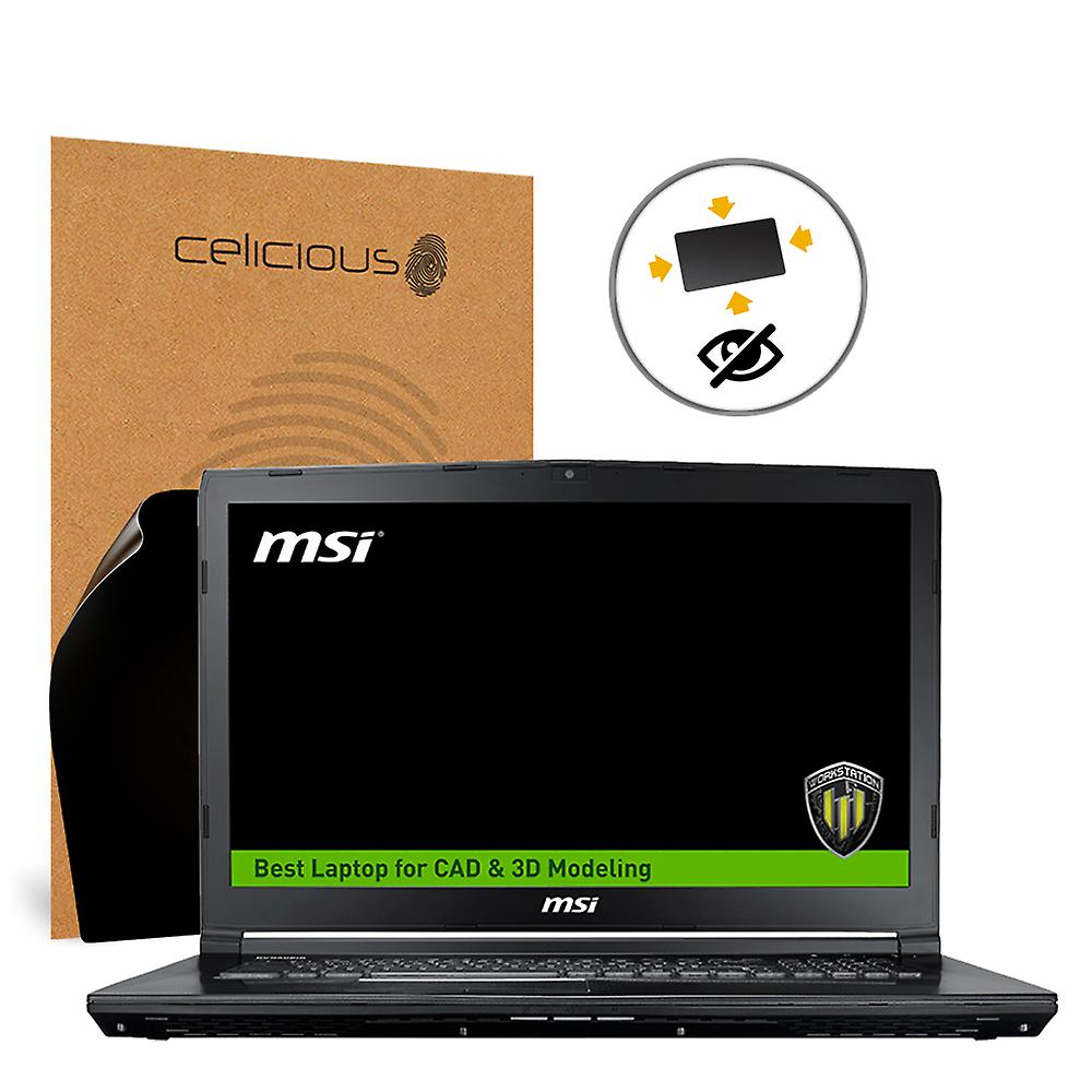 Celicious Privacy Plus 4-Way Anti-Spy Filter Screen Prougeector Film Compatible with MSI Workstation WE72 7RJX