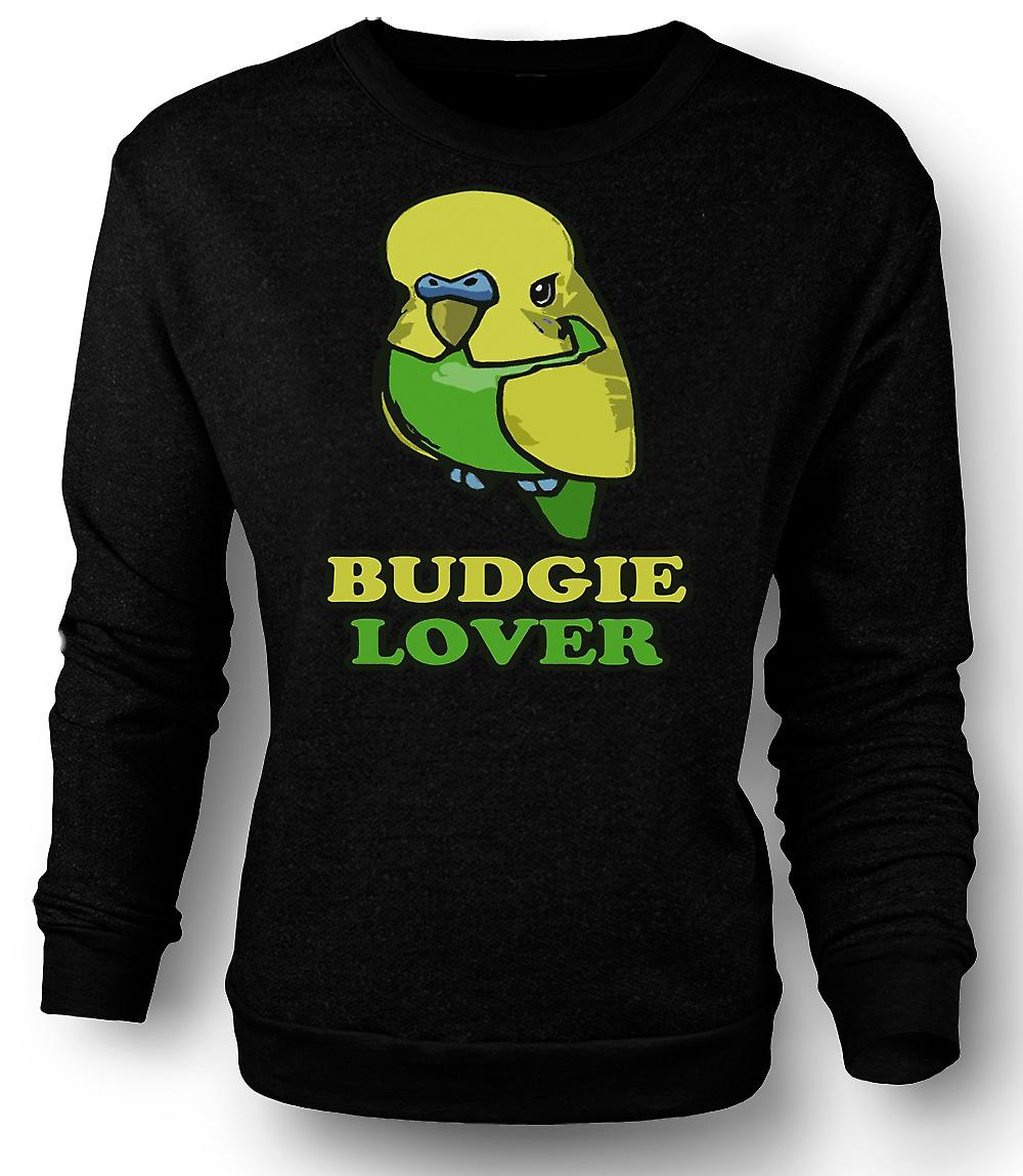 Mens Sweatshirt Budgie Lover