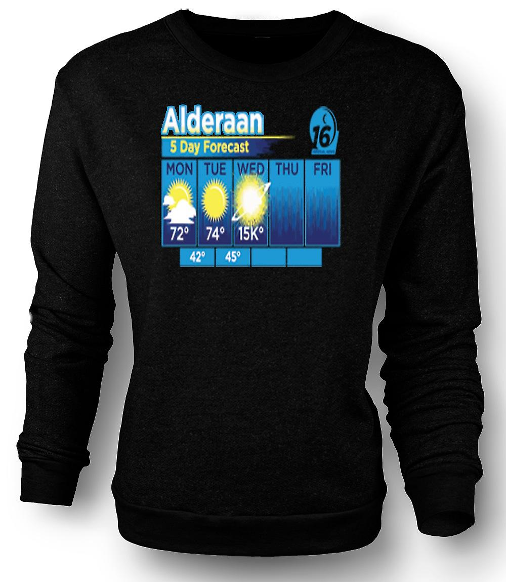 Mens Sweatshirt Alderaan 5 Day Weather Forcast - Star Wars