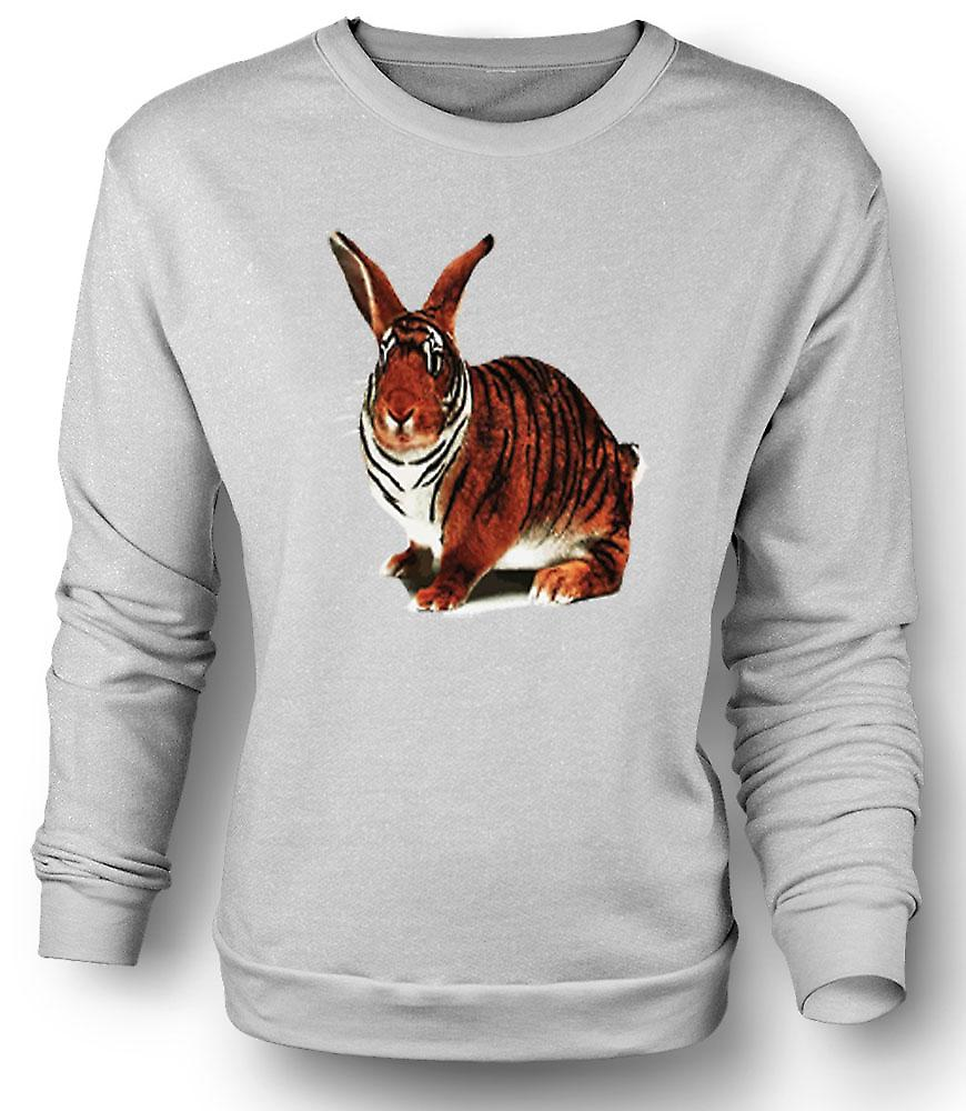 Mens Sweatshirt Tiger Rabbit Pop Art Design