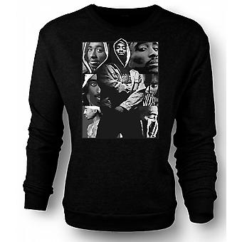 Womens Sweatshirt Tupac Collage - Hip Hop