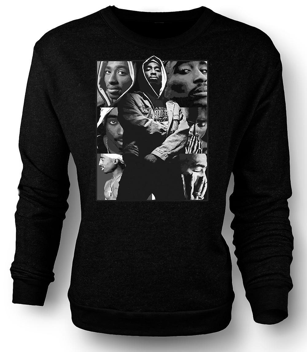 Mens Sweatshirt Tupac Collage - Hip Hop
