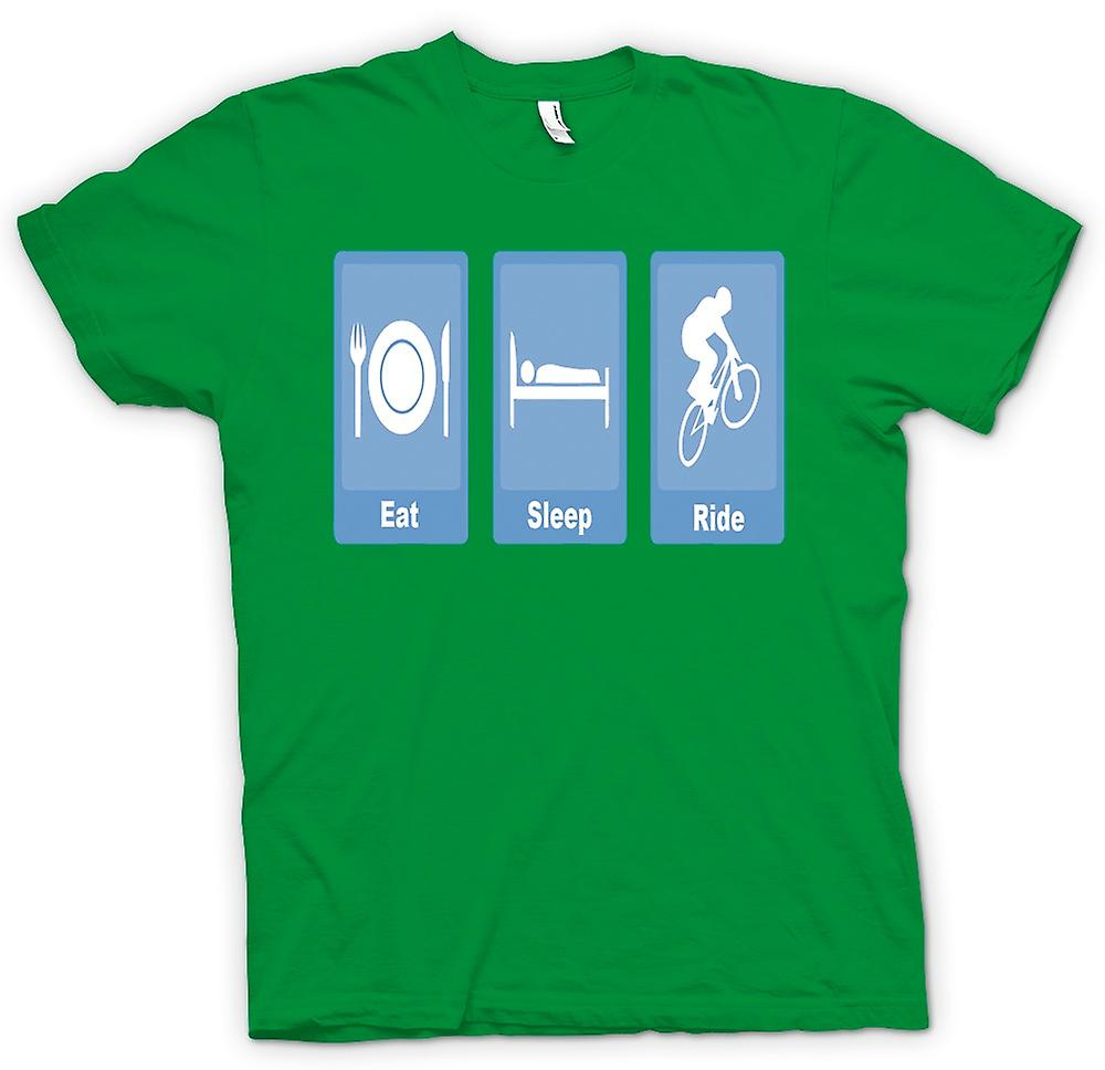 Mens t-shirt - mangiare dormire Ride - Bike