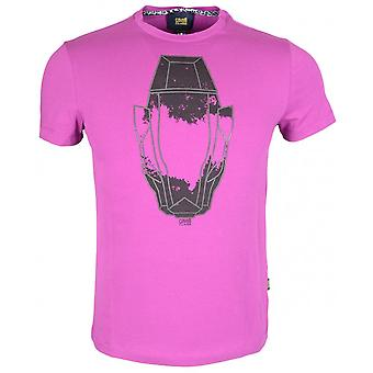 Cavalli Class Jersey Stretch Panther Blueberry T-shirt