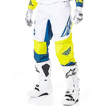 Fly Racing Yellow-White-Navy 2019 F-16 MX Pant