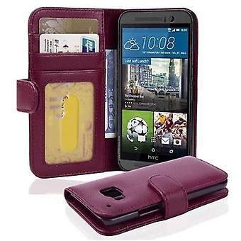 Cadorabo Hülle für HTC ONE M9 Case Cover - Handyhülle mit Magnetverschluss und 3 Kartenfächern – Case Cover Schutzhülle Etui Tasche Book Klapp Style