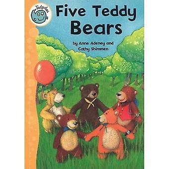 Cinco osos de peluche (renacuajos)