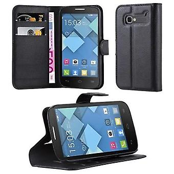 Cadorabo Case for Alcatel OneTouch POP C5 - Phone Case with Magnetic Closure, Stand Function and Card Case Compartment - Case Cover Case Case Case Case Book Folding Style