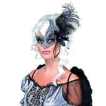 Womens Masquerade Dark Angel Eyemask Fancy Dress accessoire