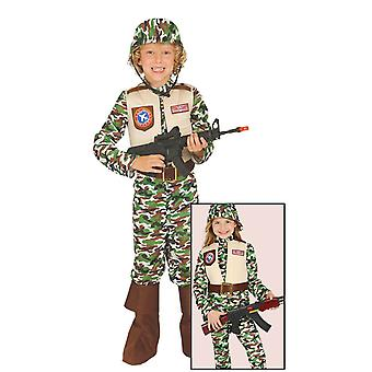 Childrens Special Forces Camouflage Fancy Dress Costume