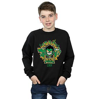 DC Comics ragazzi Teen Titans Go Crazy per Pizza Sweatshirt