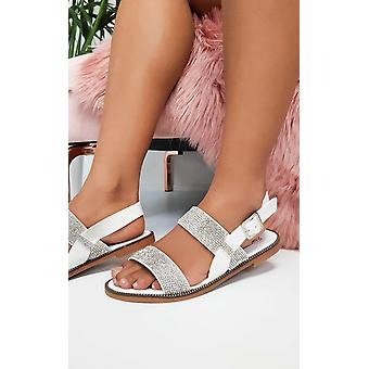 IKRUSH Womens Luca Diamante Strappy Sandals