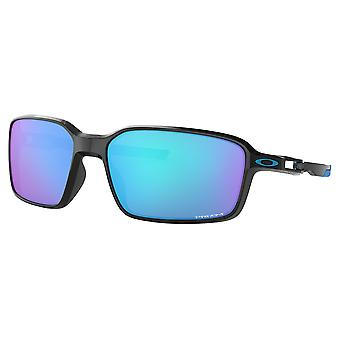 Oakley OO9429 02 Polished Black Siphon Rectangle Sunglasses Lens Category 3 Lens Mirrored Size 64mm