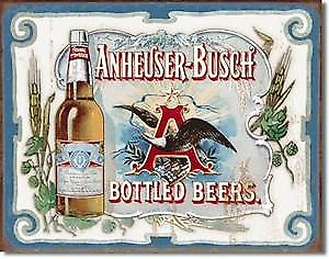 Anheuser-Busch Bottled Beers metal sign