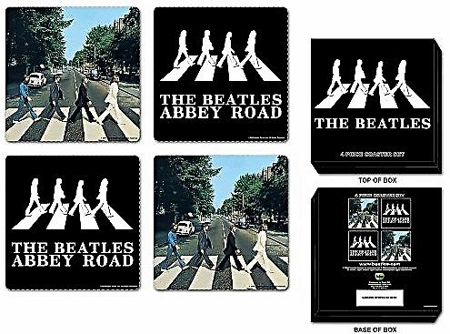 Beatles Abbey Road boxed drinks mat / coasters set   (ro)