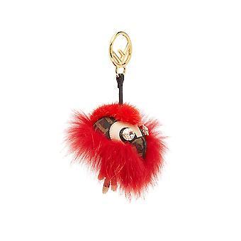 Fendi Brown Leather Key Chain
