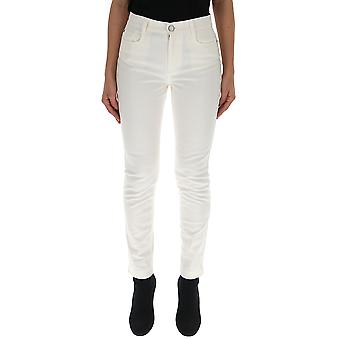Fendi White Cotton Jeans