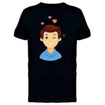 Man In Love Winks Eye Tee Men's -Image by Shutterstock