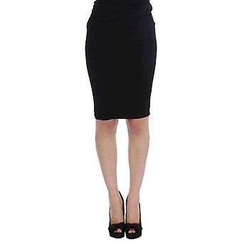 Karl Lagerfeld Black Straight Pencil Skirt -- SIG3355141