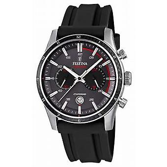 Festina Mens Tour Of Britain 2015 Black Rubber Strap F16874/H Watch
