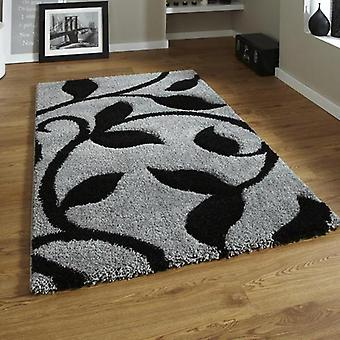 Rugs -New Art Fashion 7647 Grey & Black