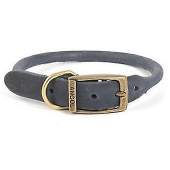 Ancol Timberwolf Rolled Leather Dog Collar