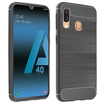 Fibra de carbono caso escudo para Samsung Galaxy A40-Grey