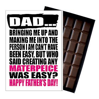 Funny Father's Day Gift Silly Chocolate Present Rude Card For Dad DADIYF124