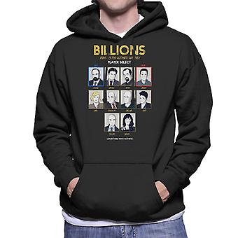 Billions Character Choose Gaming Screen Men's Hooded Sweatshirt