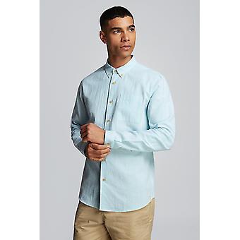 Hymn Deckchair Seersucker Stripe Shirt Blue