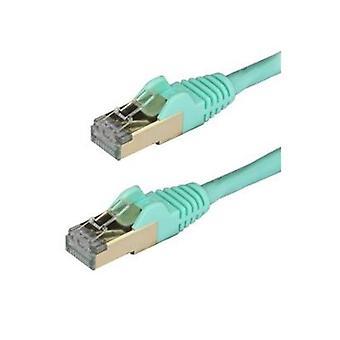Startech 2M Aqua Cat6A Ethernet Cable Stp