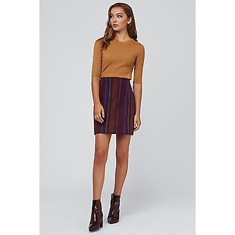 Louche Aubin Jacquard Striped Skirt