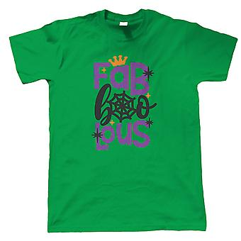 Fab Boo Lous Mens T-Shirt | Halloween Fancy Dress Costume Trick Or Treat | Hallows Eve Ghost Pumpkin Witch Trick Treat Spooky | Halloween Gift Him Dad